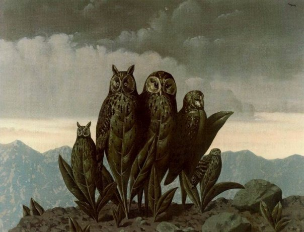 monsterism :      René  Magritte,  Companions of Fear .