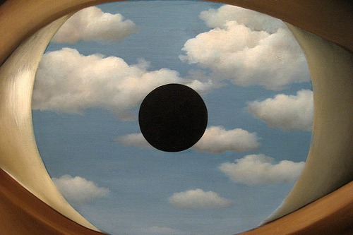 funnybox: René Magritte's The False Mirror 1928 (Eye in the Sky)