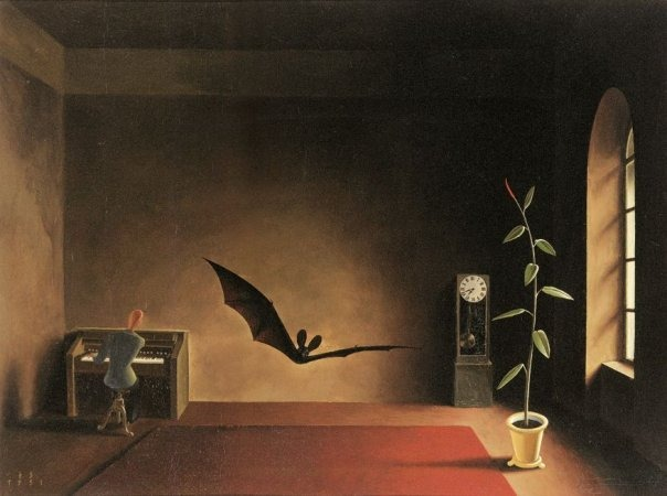 vruz :       Song in the Twilight (1931) by Franz Sedlacek     —via  blueruins    vruz: hey, look at me, I can fly.