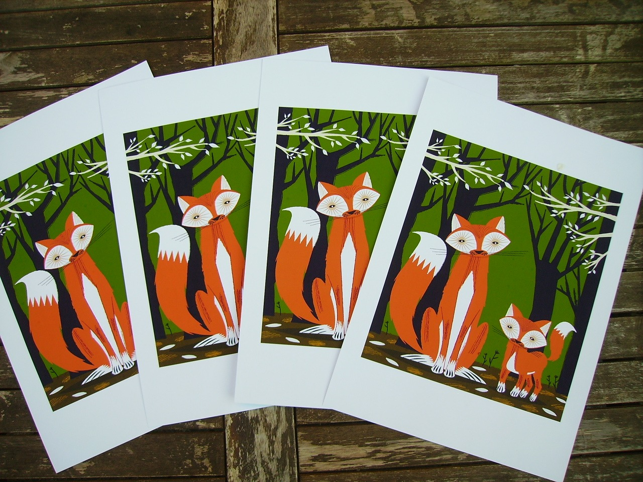 Two Fine Foxes - Limited Edition Prints > http://etsy.me/dQbnwa