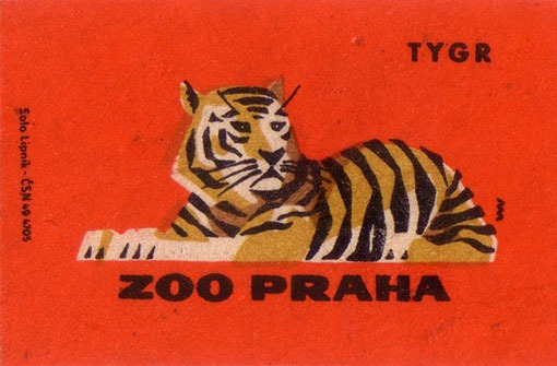 taffetatalon: (via design work life » Vintage Matchbook Labels from the Prague Zoo)
