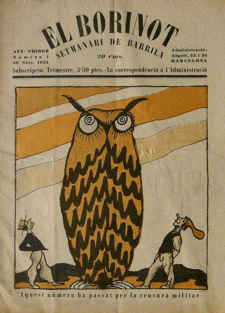 wordsandeggs: OWL ALERT! 1923 cover, via A Journey Round My Skull.