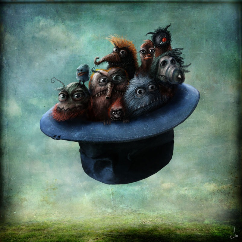 superstarling: fer1972: Monsters in a flying hat by enigma-astralis