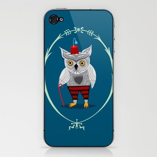 Olaf The Old Grey Owl - Iphone skin on Flickr. Now available here! > http://bit.ly/kghGVE