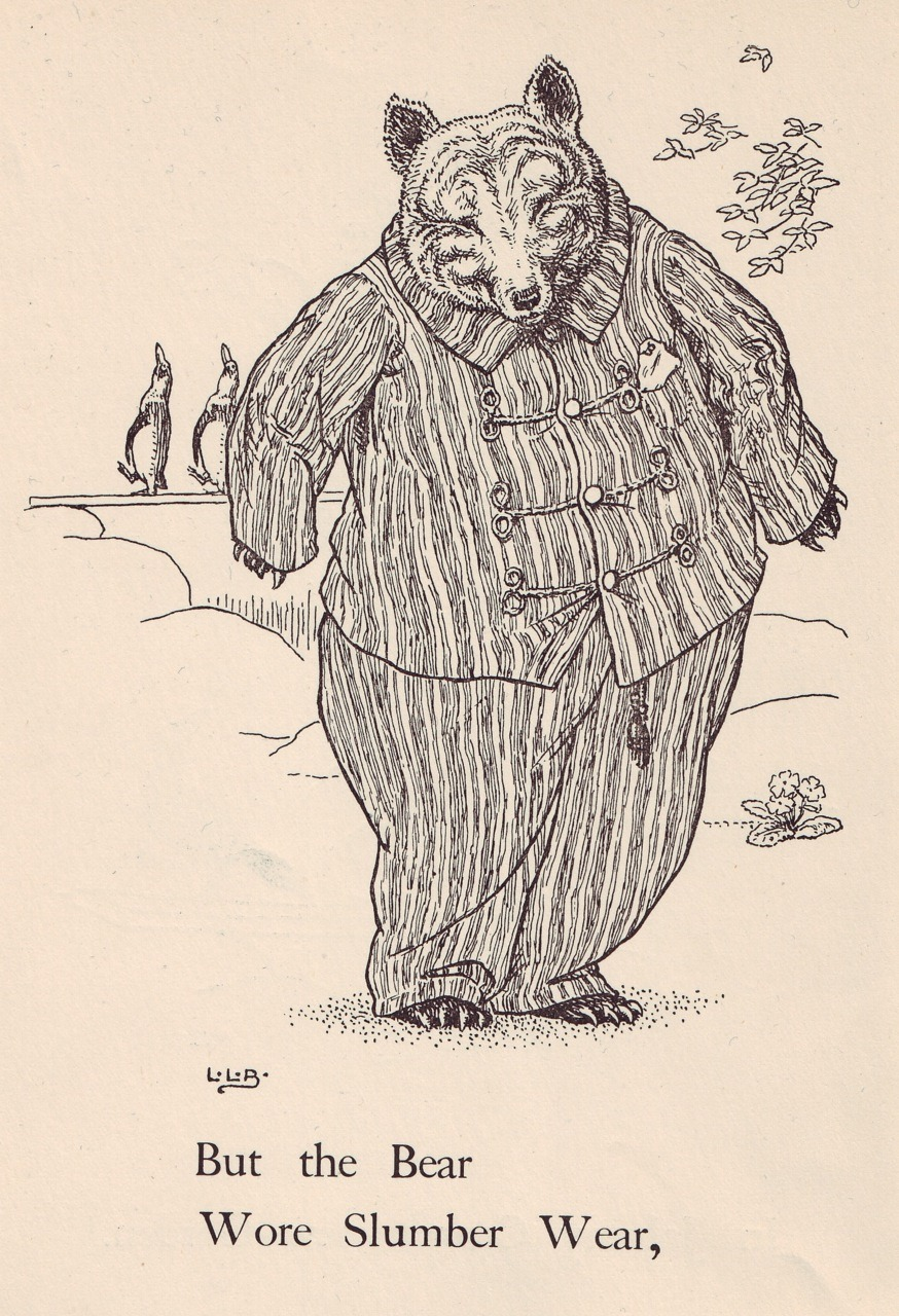 Bear illustration from Johnny Crow's New Garden