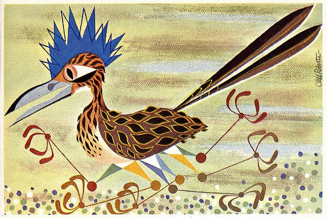 Road Runner Illustration for FORD TIMES by Cliff Roberts. Approx. late 1940s found via Eric Sturdevant on Flickr.