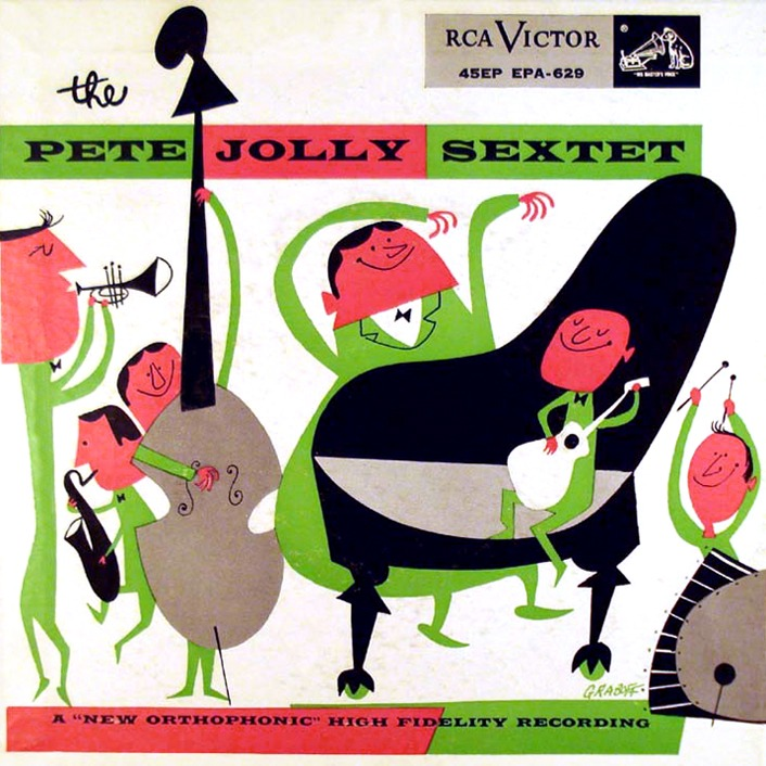 rechercher: The Pete Jolly Sextet, 1955 (via MID-CENTURIA : Art, Design and Decor from the Mid-Century and beyond: Mid-Century Album Covers)