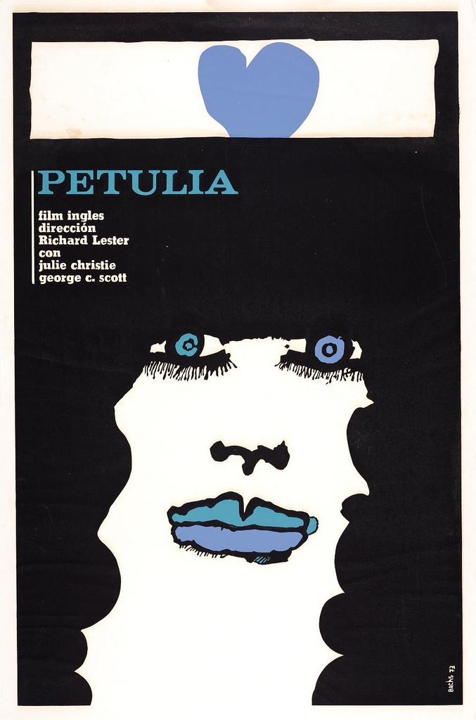 someotherpeople: Cuban Film Poster:Petulia.Eduardo Munoz Bachs. 1973