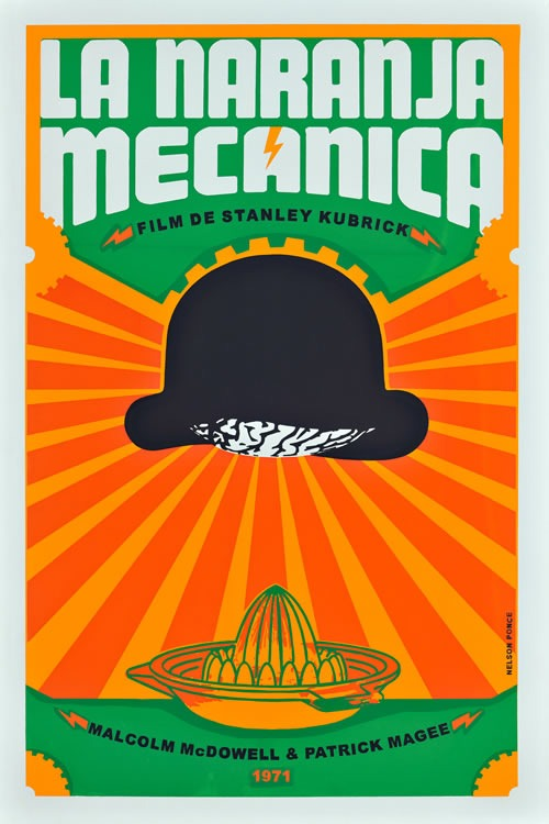 Cuban movie poster Stanley Kubrick's A Clockwork Orange (Nelson Ponce) found via http://bit.ly/qsdJO0