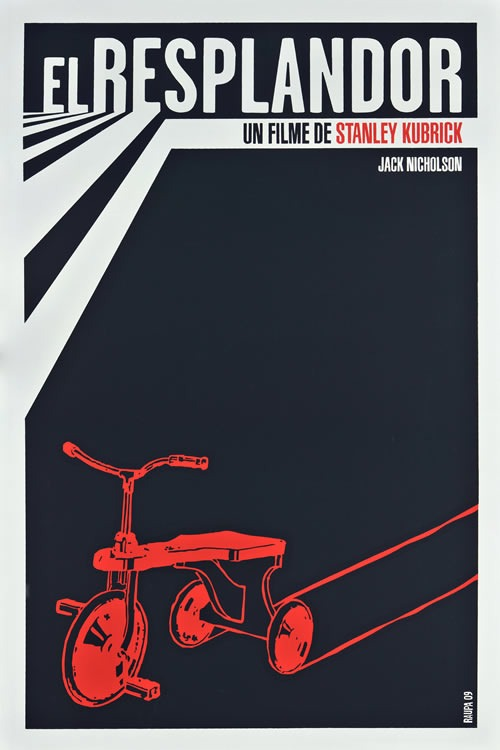 Cuban movie poster Stanley Kubrick's The Shining found via http://bit.ly/qsdJO0