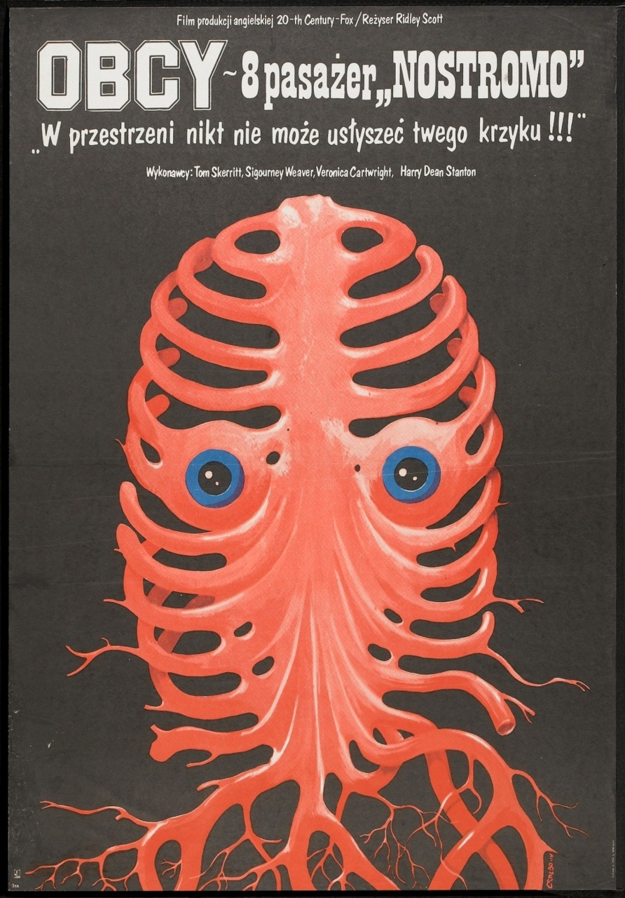 scanzen: Alien (20th Century Fox, 1981). Polish movie poster, Jakub Erol artwork.