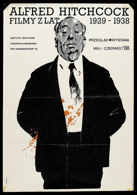 Polish poster for an Alfred Hitchcock film festival. via  flickr     www.hitchcockwiki.com/blog/?p=496