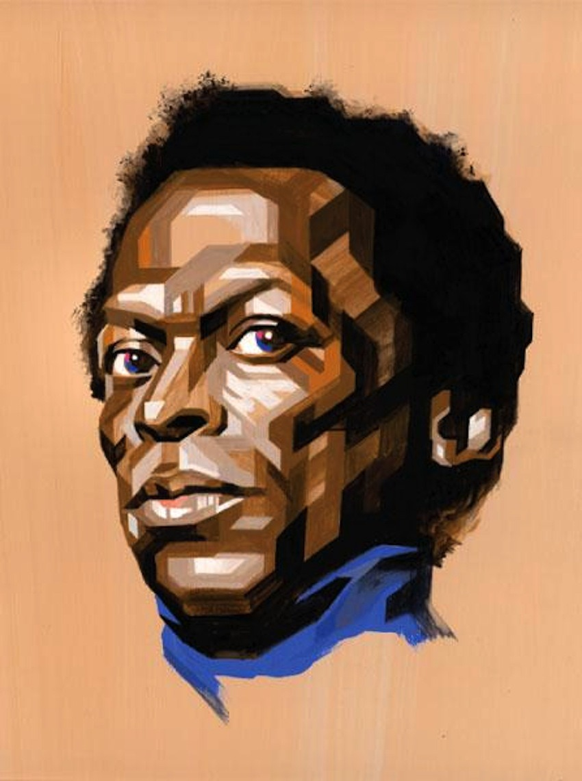 Miles Davis geometric pop art by Tadaomi Shibuya found via  http://www.mymodernmet.com/profiles/blogs/geometric-pop-art-tadaomi