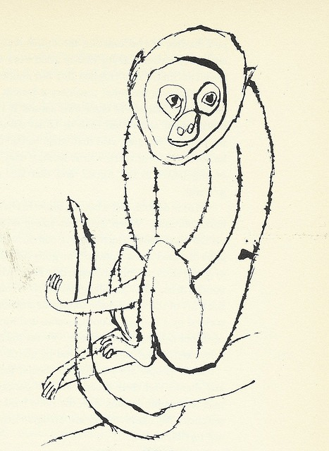 "21: ""Monkey"" by Ben Shahn via Scott Lindberg on Flickr."