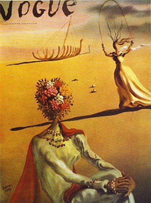 reckon :      December 1938    via  'Vogue' Covers by Salvador Dali   HOW TO BE A RETRONAUT