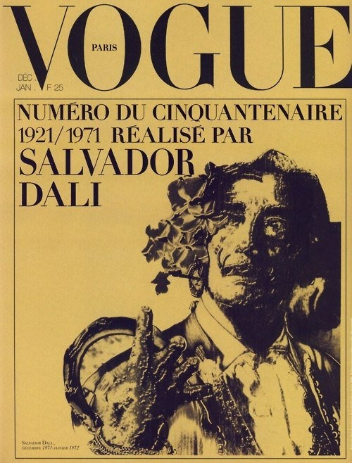 reckon: Special Christmas edition of the French Vogue 1971. Dali edited and illustrated the issue. via 'Vogue' Covers by Salvador Dali | HOW TO BE A RETRONAUT