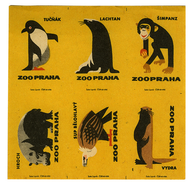 karenh: amazing collection of uncut Czech matchbox labels (via kindra)