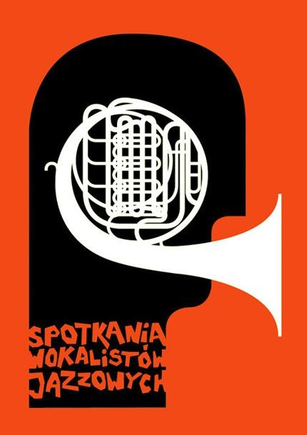tereszkiewicz :     Spotkania Wokalistów Jazzowych.   → Plakat uczestniczył w wystawie towarzyszącejVMiędzynarodowemu Festiwalowi Jazz w Ruinach w roku 2009.   → Plakat uczestniczył także w Przeglądzie Plakatu Jazzowego w Żorach w 2010 roku odbywającego się w ramach 5 Easy Jazz Festivalu.