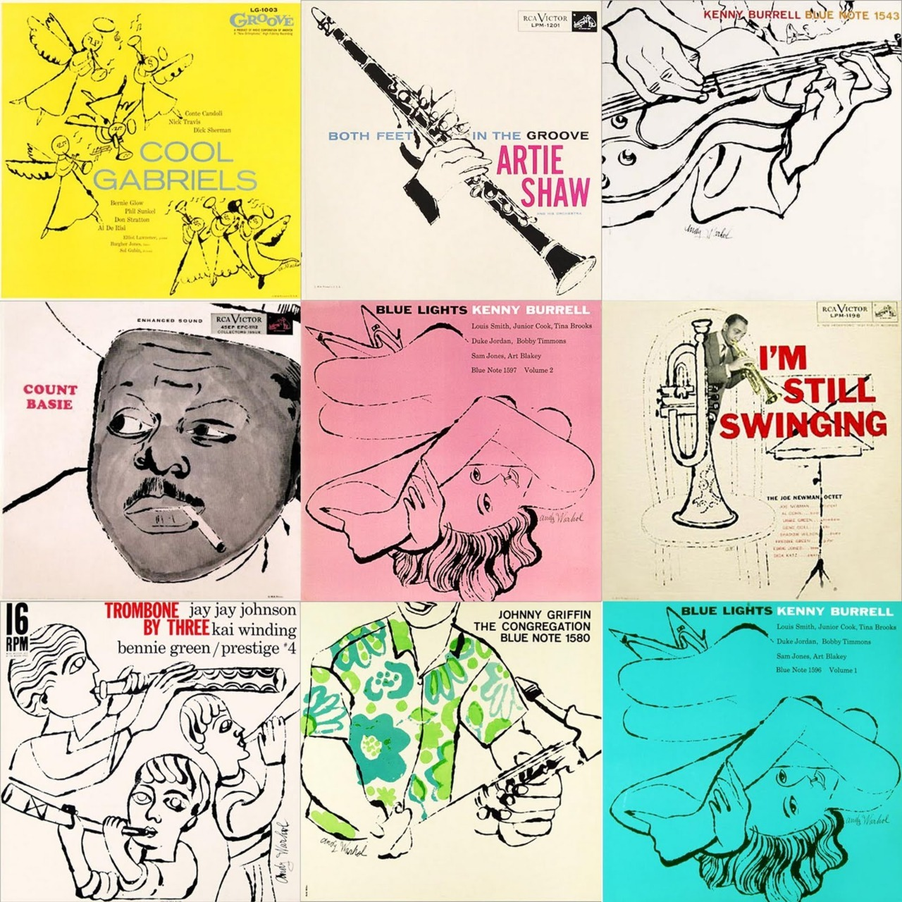 righteoustuff :     ANDY WARHOL -Jazz Cover Art-