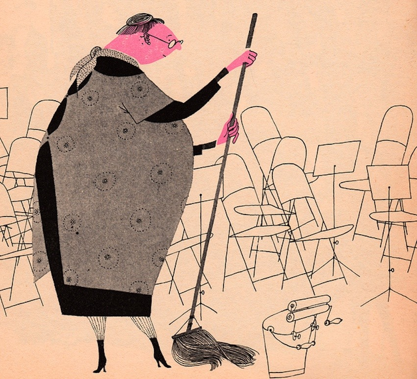image from  What Makes an Orchestra  - written & illustrated by Jan Balet (1965).   Found via:  http://bit.ly/JuvQcO