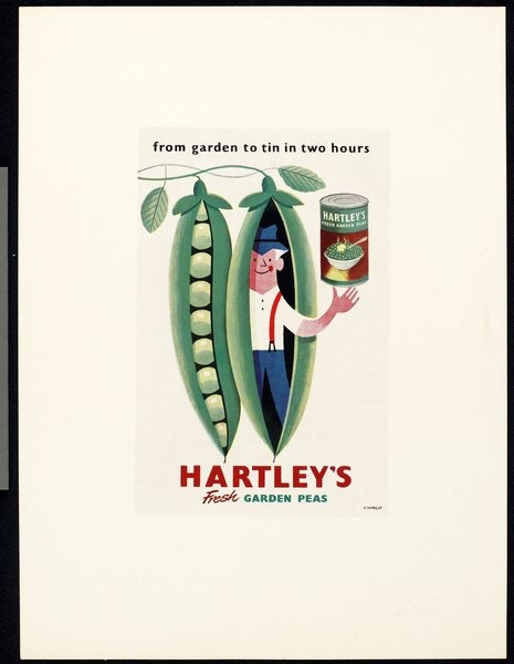 allakinda :     Hartley's garden peas by   Tom Eckersley