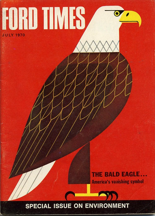 Charley Harper Ford Times cover    Found via  Words & Eggs