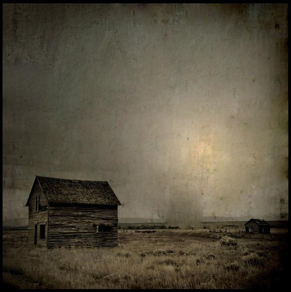 jamreilly :     Barn and Dust Devil   Photograph by Johanna DeGerlia (2010)    via Escape Into Life