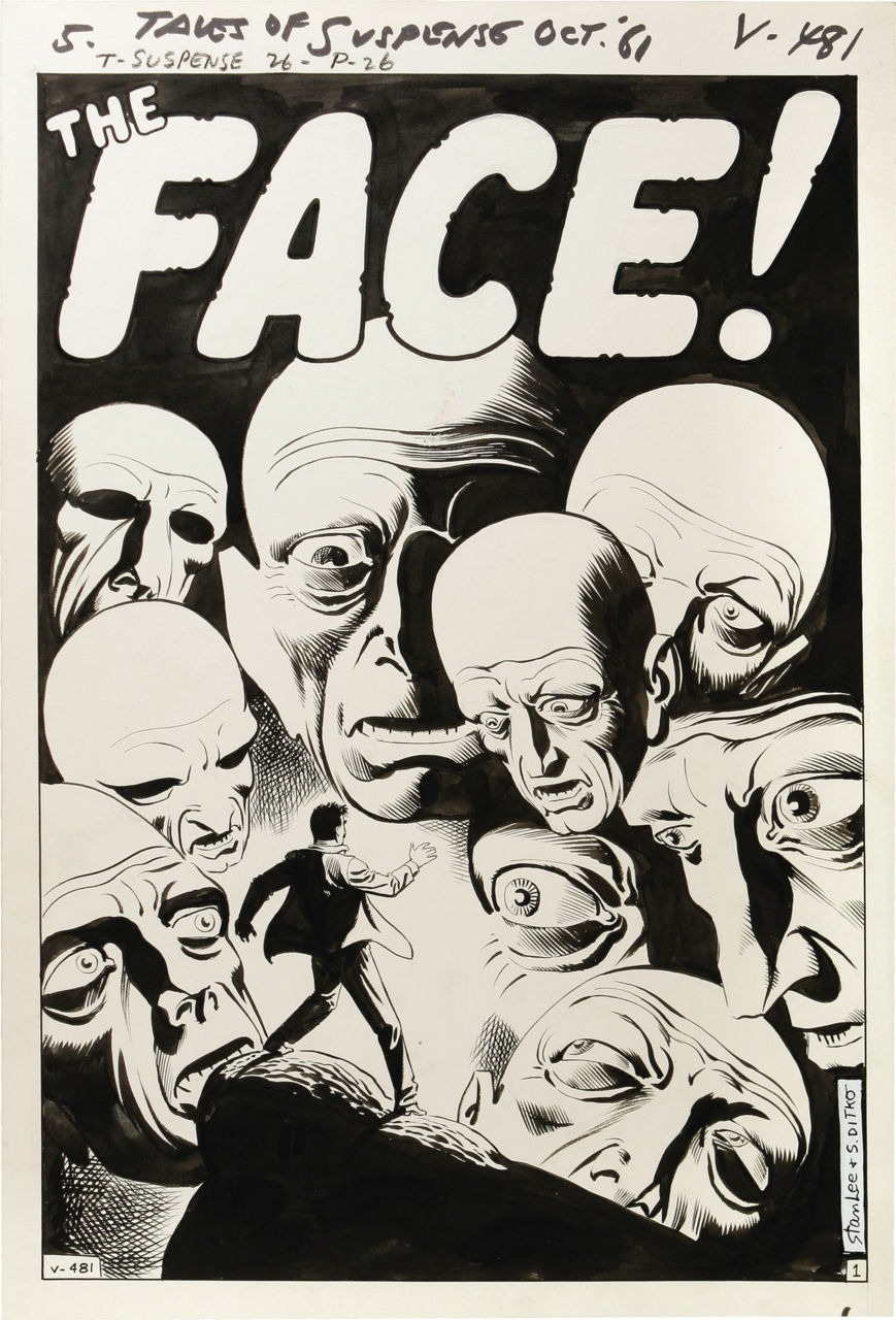 themarvelageofcomics :     Here's a particularly beautiful example of a Steve Ditko splash page, from one of the pre-super-hero shock ending stories that he and Stan Lee produced for all of the assorted Marvel suspense books. This particular one is from TALES OF SUSPENSE #26, and would have been produced concurrent with that FANTASTIC FOUR #3 page, more or less.