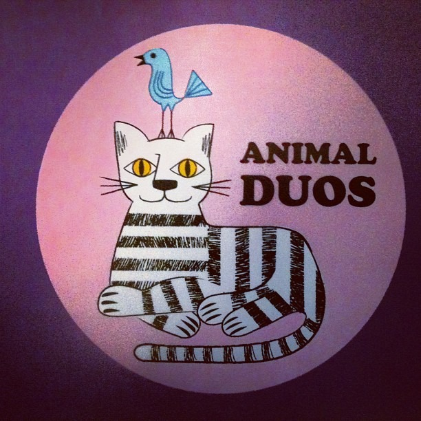 Cat and canary combo. #illustration (Taken with Instagram)