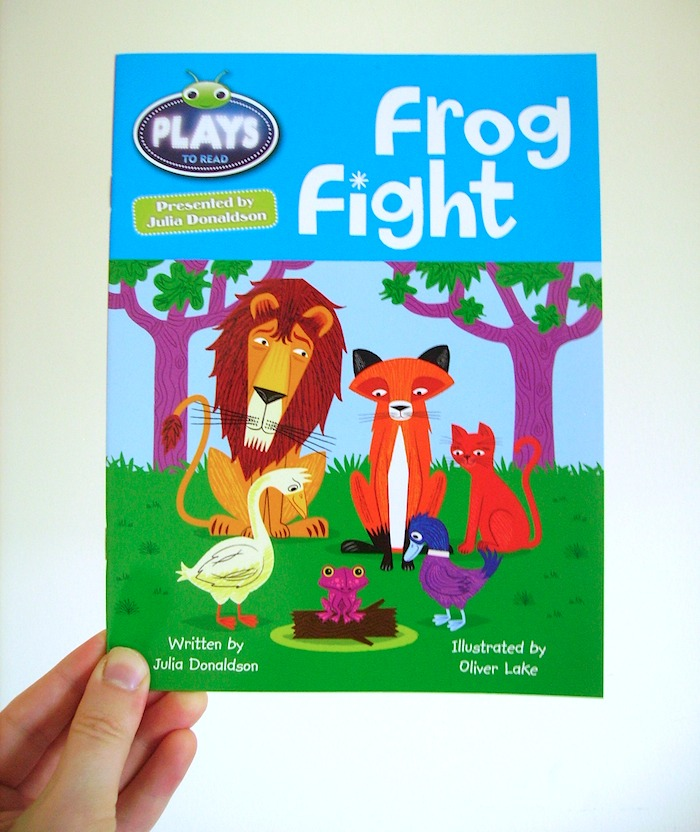 Frog Fight written by Julia Donaldson and illustrated by me.    Published:   14 Jan 2013    Available to buy here >  http://amzn.to/WWYG2l
