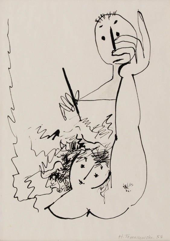 dessin-preparatoire :     Henryk Tomaszewski (1958)