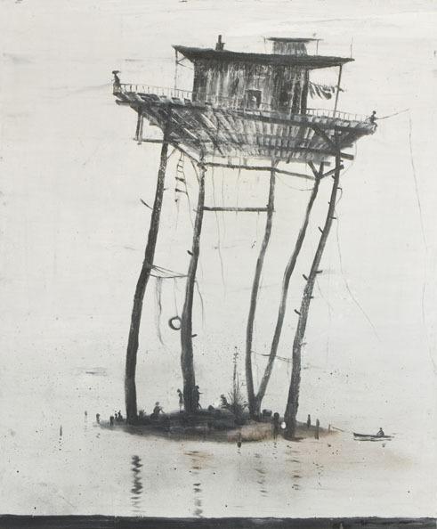 darksilenceinsuburbia :       Norbert Schwontkowski  .  'L íle de vent, 2010. Oil on canvas, 120 x 102cm.