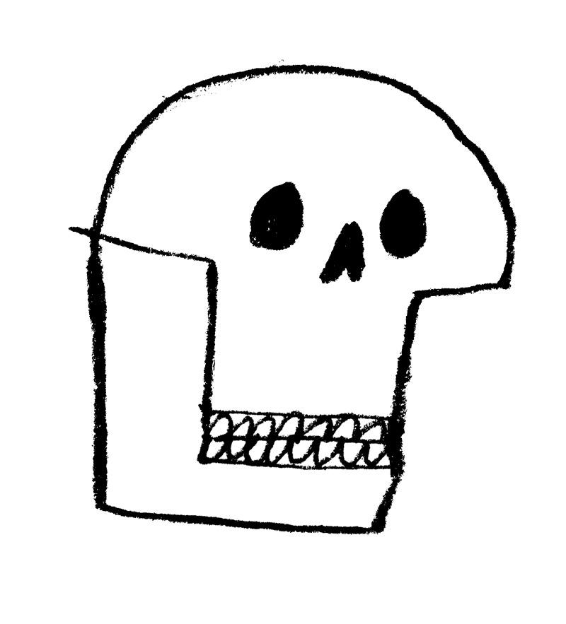 robhodgson: Rob Hodgson, skull, sketchbook
