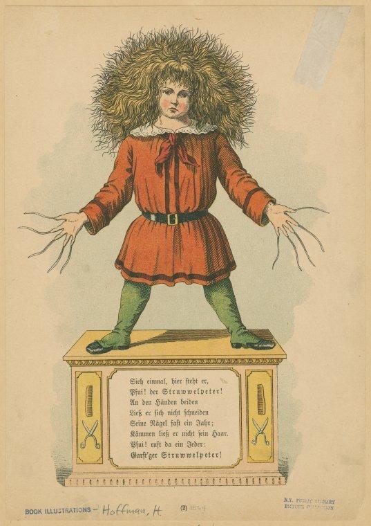 psaaok: Struwwelpeter. Der Struwwelpeter. Heinrich Hoffman. 1876. Source
