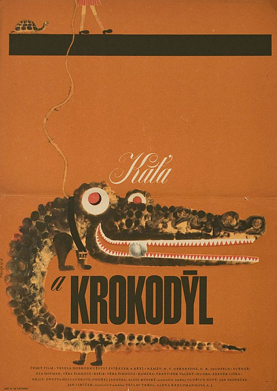 movieposteroftheday: Czech poster for KATIA AND THE CROCODILE (Věra Plívová-Šimková, Czechoslovakia, 1965) Designer: Zdenek Ziegler (b. 1932) Poster source: Posteritati [SNAP this up in their Blowout Weekend Czech Sale!]