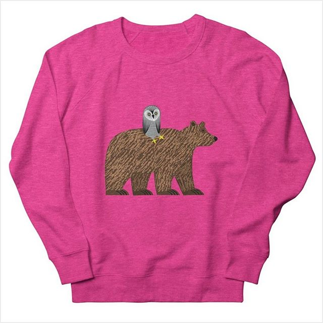 The Owl and The Bear - Heather Pink - Sweatshirt Link to order is in my Bio.
