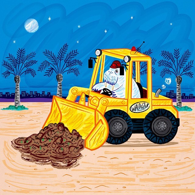 #walrus #bulldozer #illustration #illustrator #art #kidsart #childrens #childrensillustration