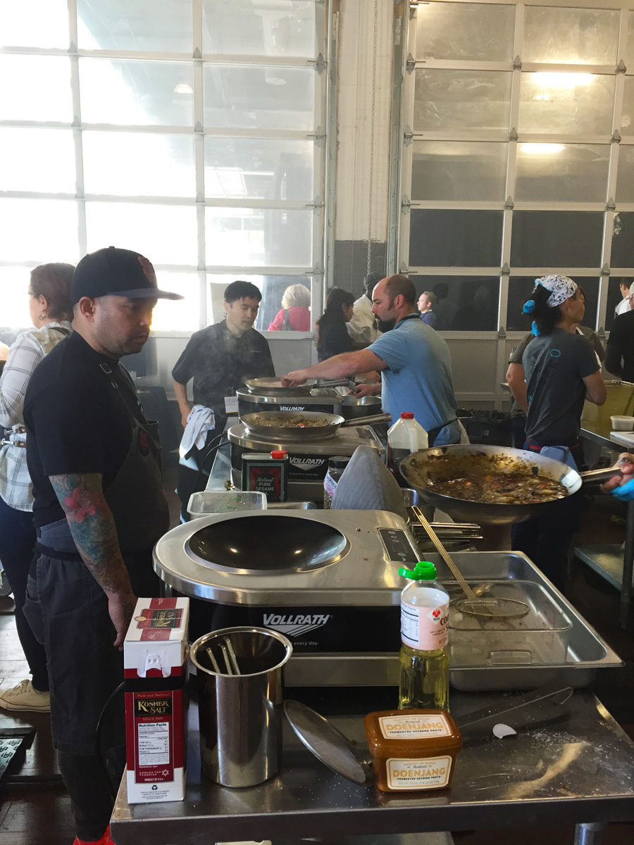 What went on in the Ramen workshops...the badass Richie Nakano getting his wok fired up...