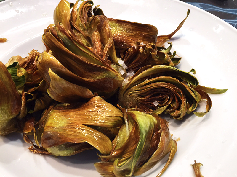 Fried artichoke at Univeral-Boqueria, Barcelona