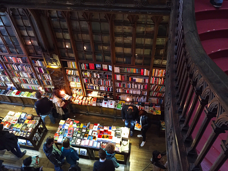Livraria Lello & Irmão-the acclaimed bookstore where Harry Potter was born.  J.K. Rowling got her inspiration from Porto, this bookstore being one of them~