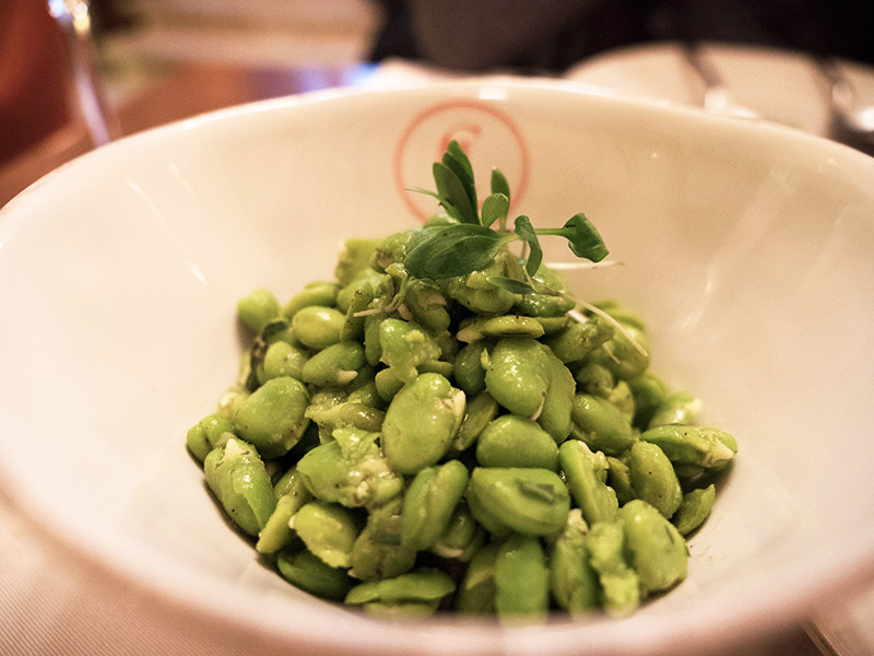 Broad beans with foie gras and coriander appetizer at Café Lisboa by José Avillez.   This Michelin chef brings his casual perspective with affordable prices to those who seek for it. Definitely recommend this spot, but try to make a reservation if you can!