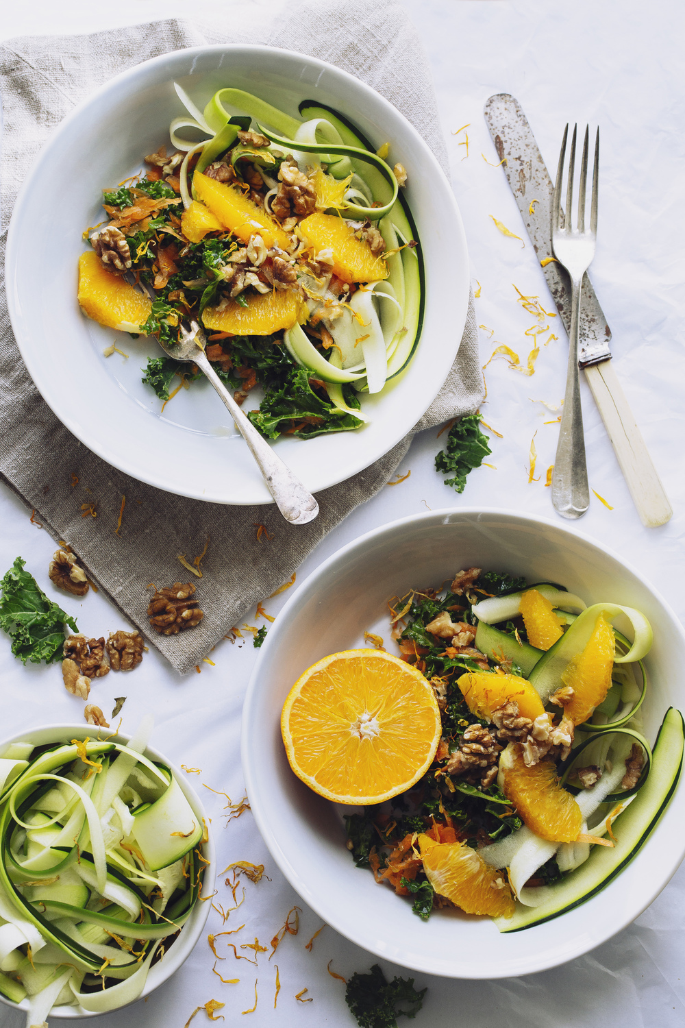 Carrot & Orange Salad with Zucchini Ribbons