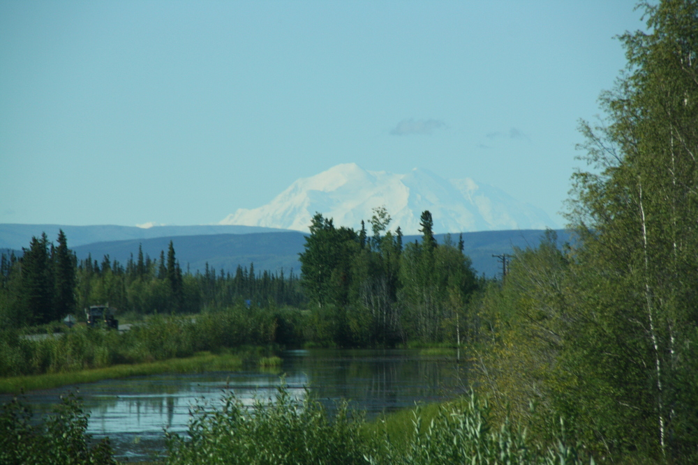 Mt McKinley - From the bus to Fairbanks