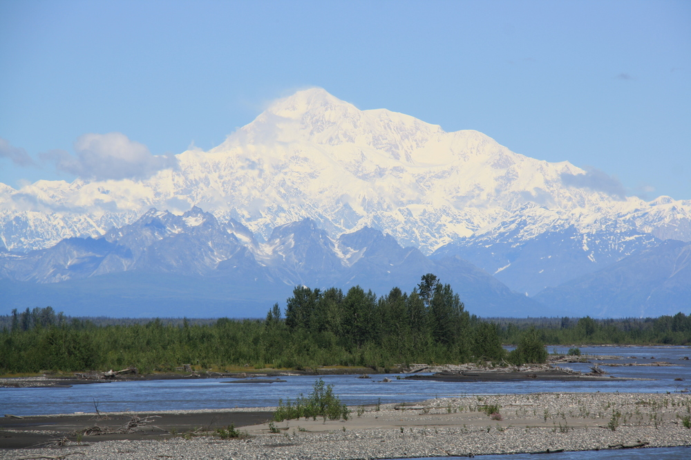 Mt McKinley from Denali Explorer RailRoad
