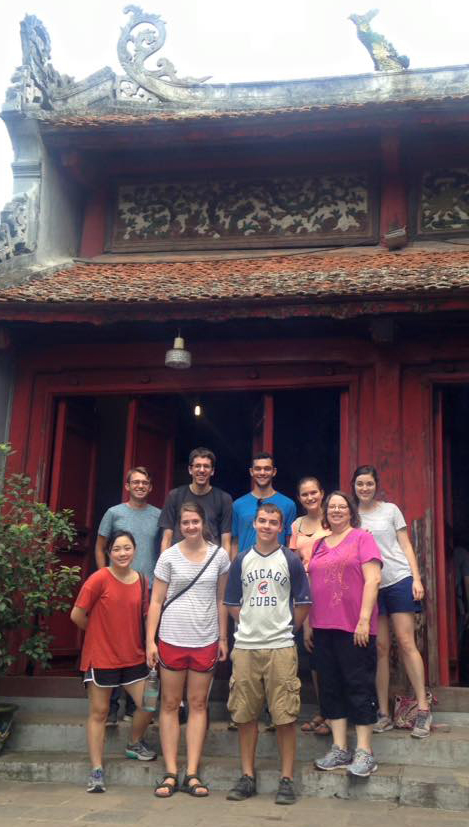 The college team in Vietnam--Eliza is in the front row, second from left.