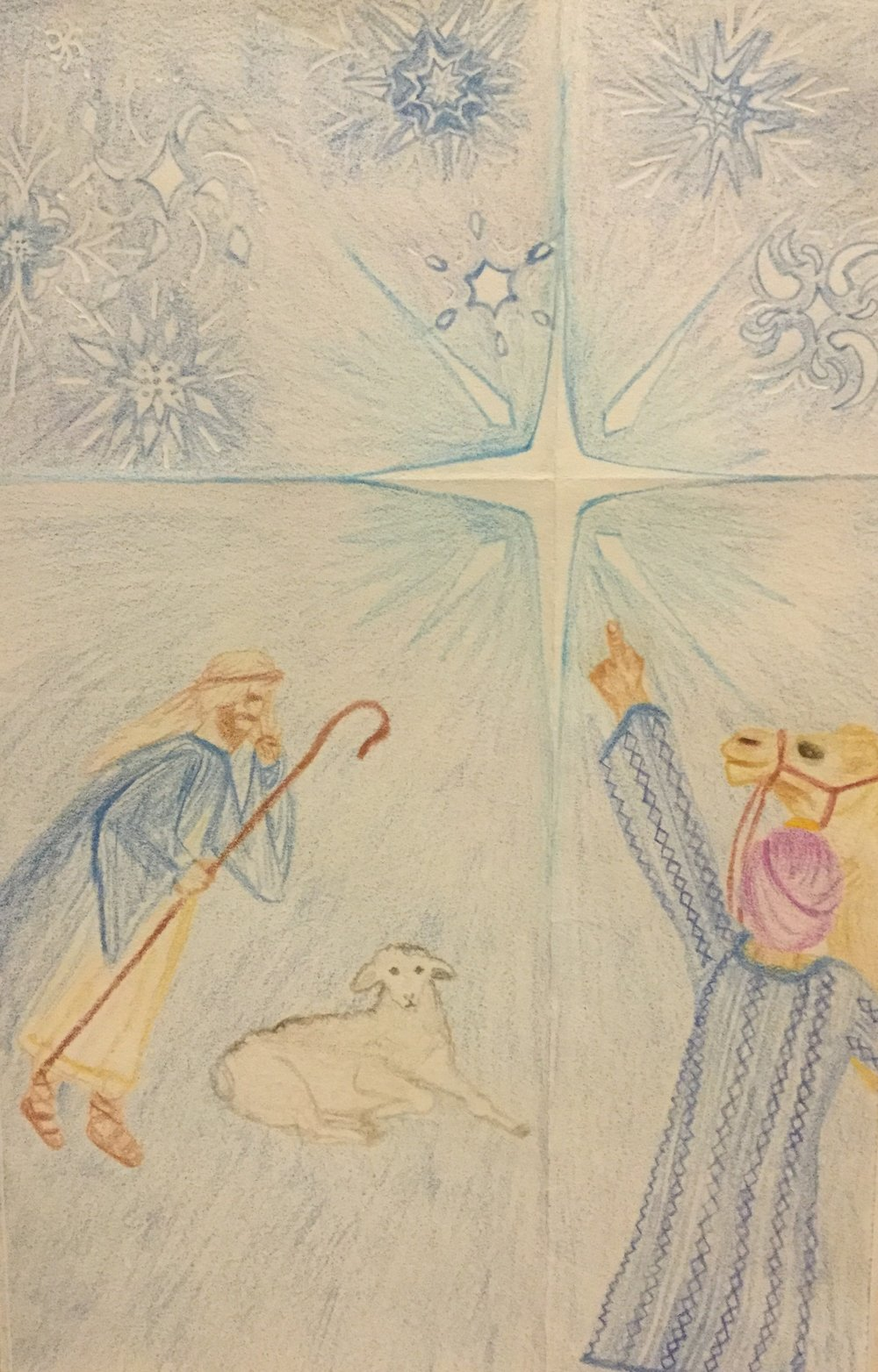 Art by Vikki Williams prompts some thoughts on shepherds from Wil Triggs