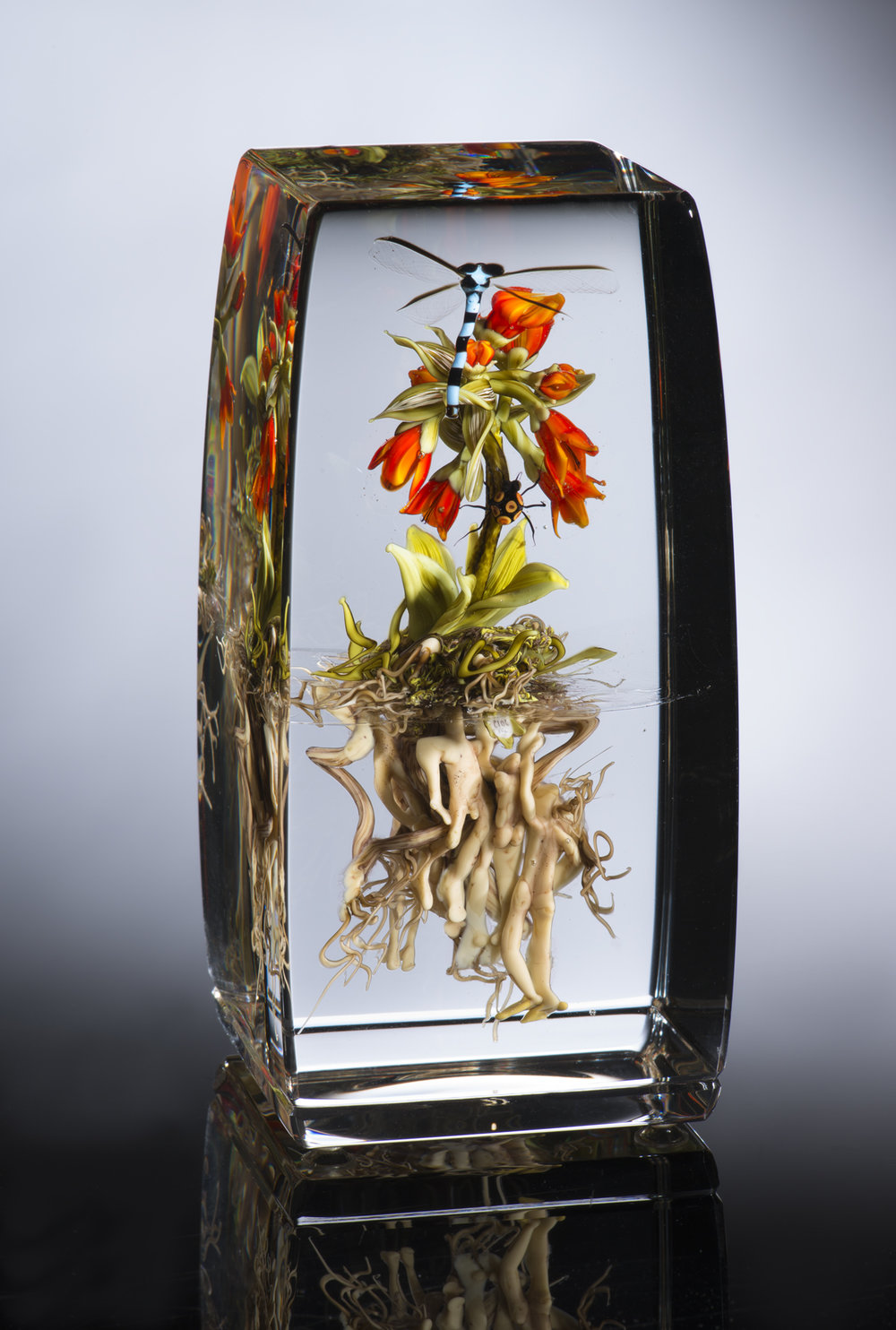 2012; Crown Imperial Lily with Figures and Insects; H. 5.5 inches