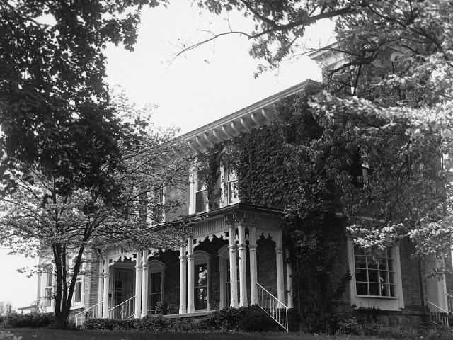 "Found on the National Register for Historic Places, the Pendleton House is located at 403 East Union Street, Hartford. The home is named ""Hillside"" and was built between 1861 and 1866 by Dr. John E. Pendleton, a prominent Hartford doctor."