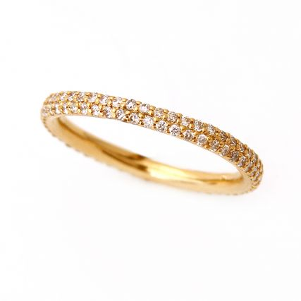 Yellow Gold Micro Pavé Diamond Eternity Wedding Band.jpg