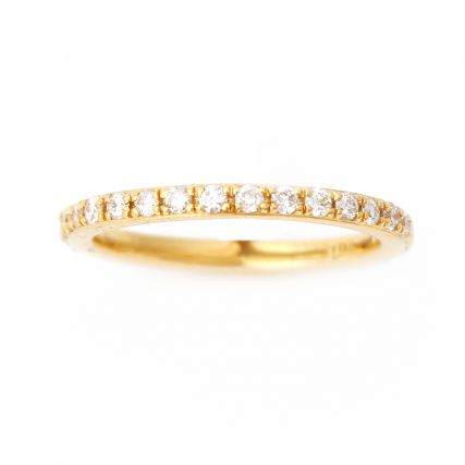 Yellow Gold Pavé Diamond Eternity Wedding Band.jpg